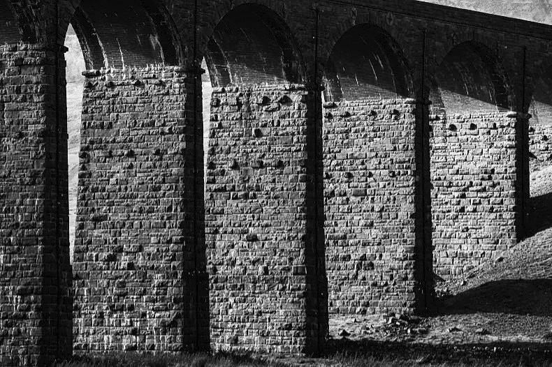 Ribblehead Viaduct 1 - Monochrome