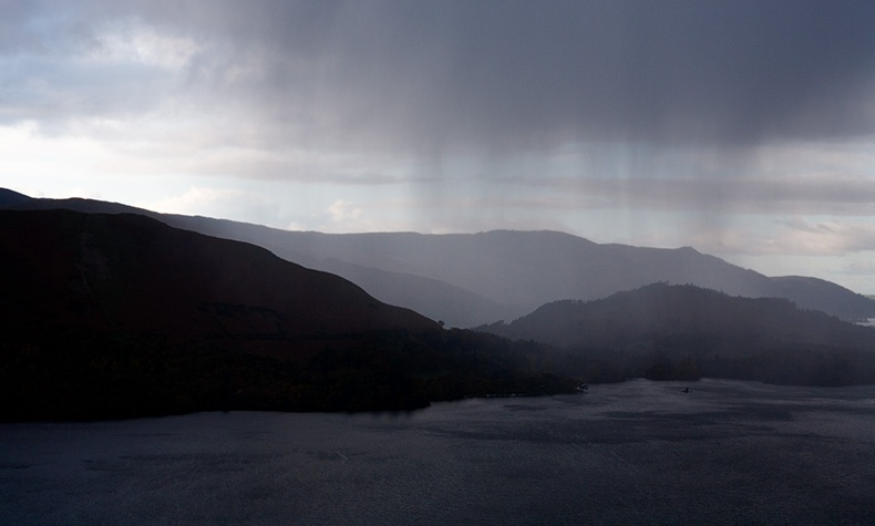 Hailstorm over Derwentwater 1 - Lake District