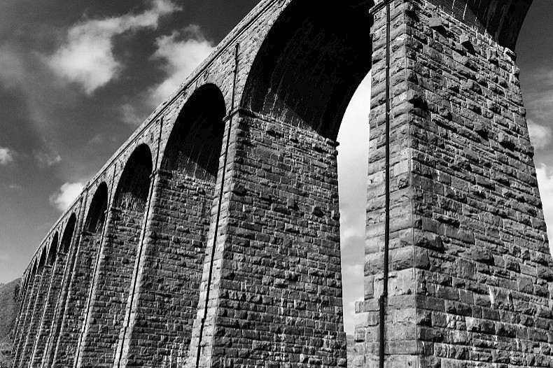 Ribblehead Viaduct 3 - Monochrome