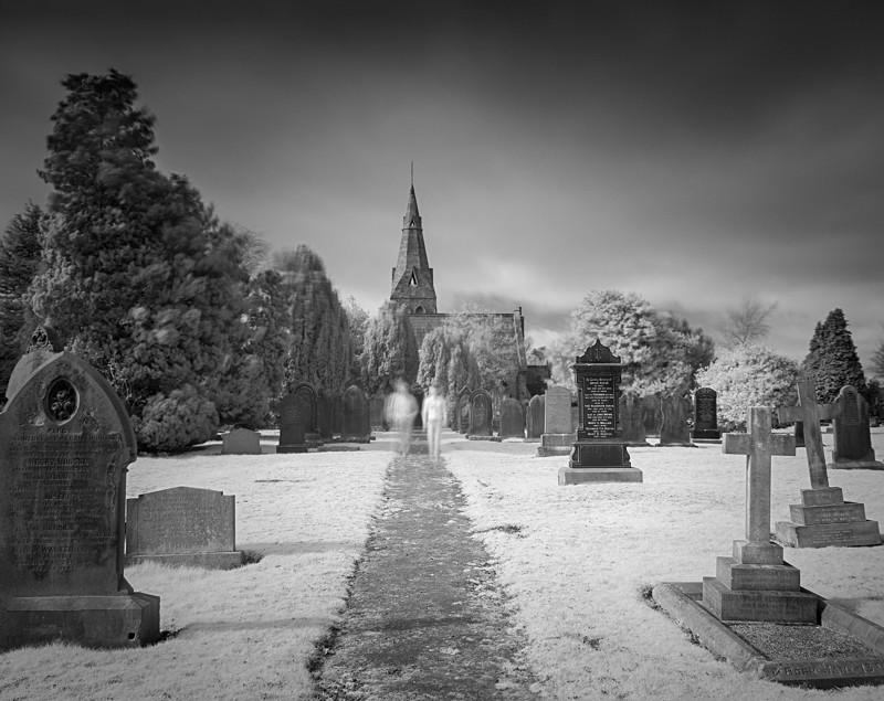 Otley Cemetery in Infrared #2 - Infrared