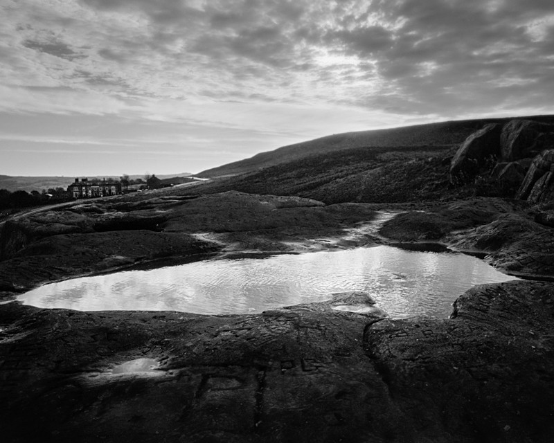 Pool of Water on 'The Cow' Ilkley - Landscapes