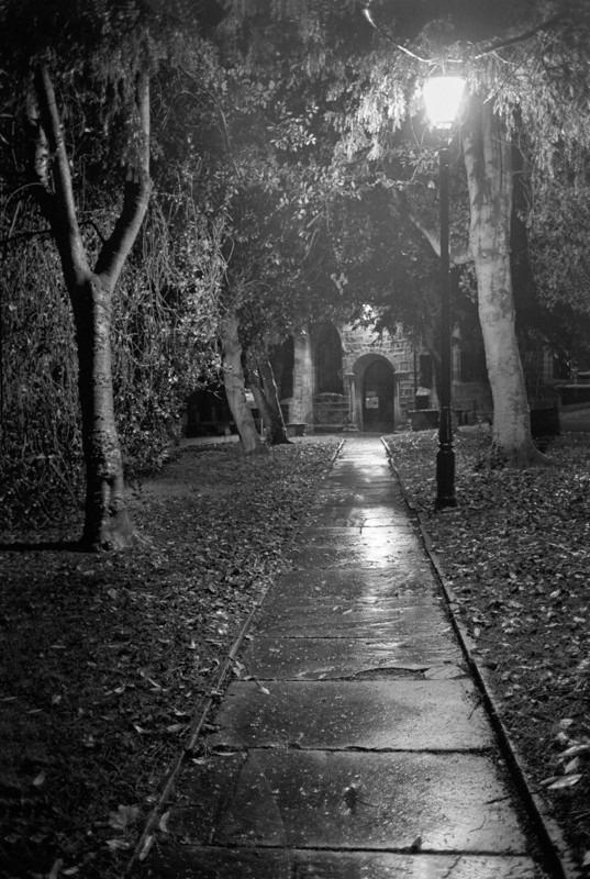 Otley Church Path - Otley and Ilkley at Night