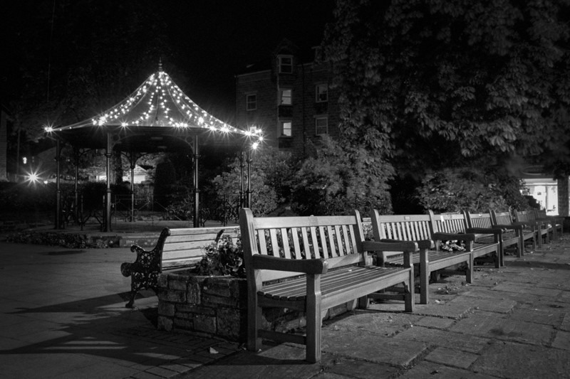 Benches Ilkley - Otley and Ilkley at Night
