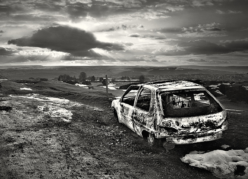 Old Burnt out Car