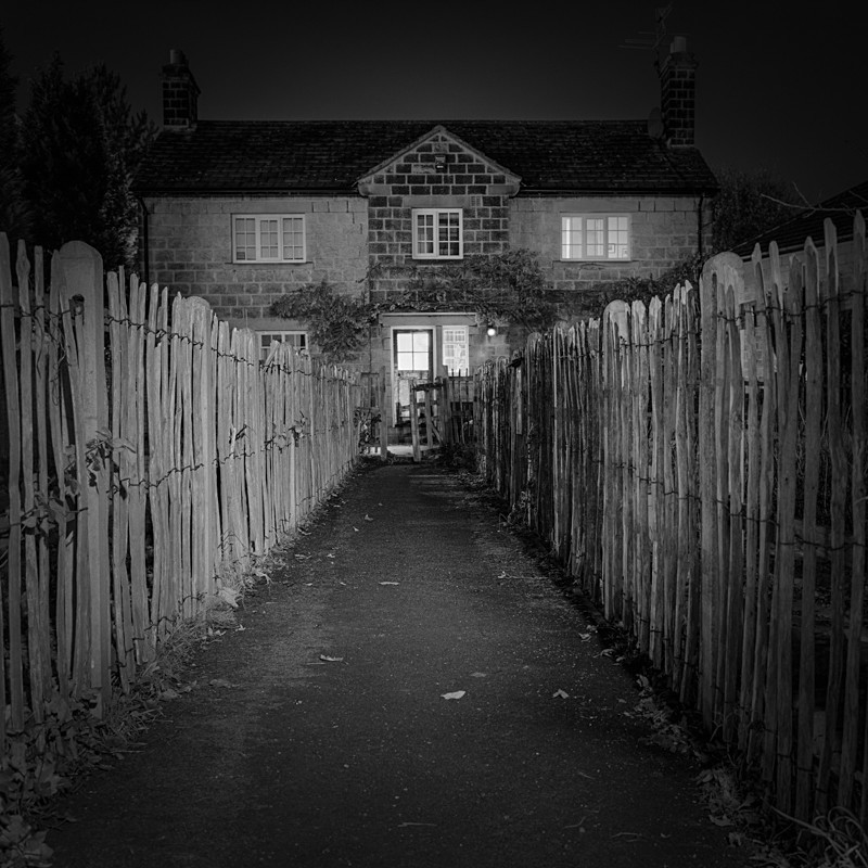 Cottage approach, Ilkley - Otley and Ilkley at Night
