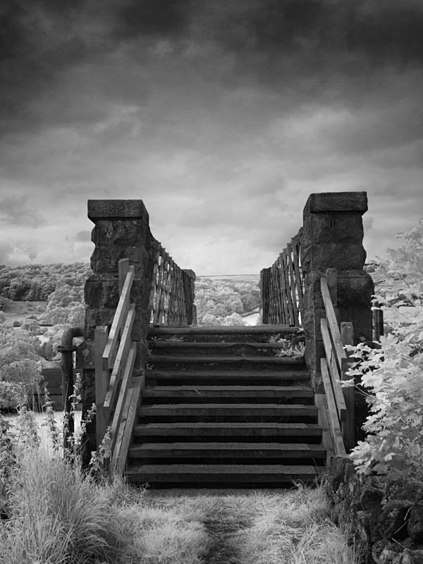 Steps and Bridge, Infrared - Infrared