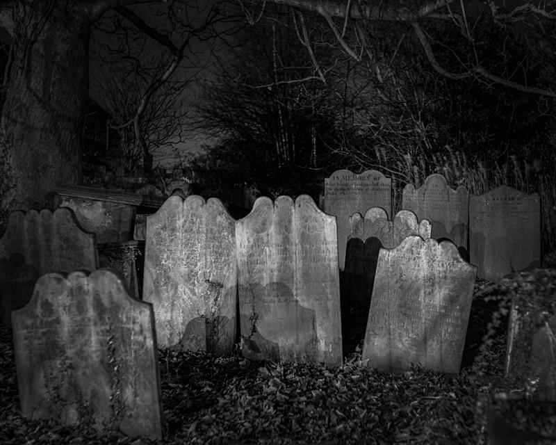 All Saints Parish Church Headstones Otley - Otley and Ilkley at Night