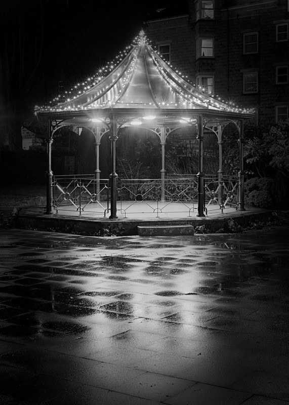 Ilkley Bandstand - Otley and Ilkley at Night