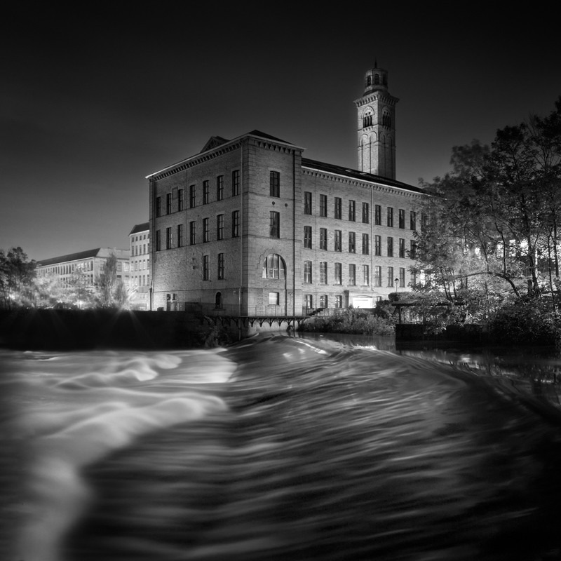 Salts Mill and Weir 2 - Night Exposures