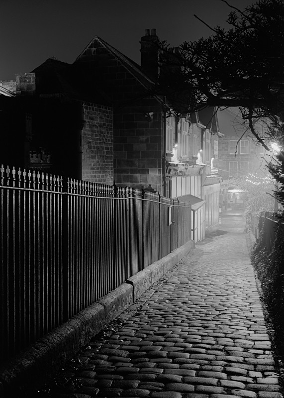 Cobble Path at Side of All Saints Church Otley - Otley and Ilkley at Night