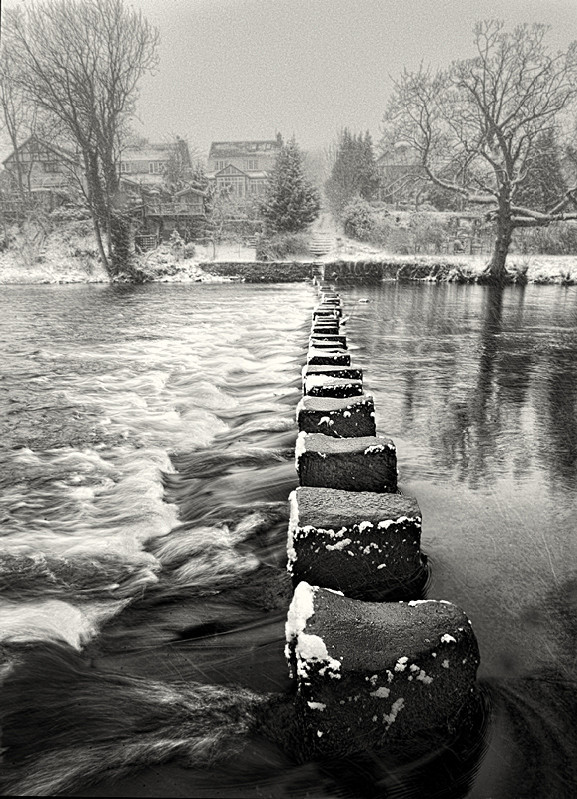 Stepping stones across water