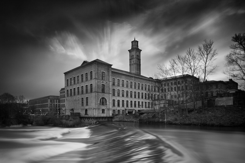 Salts Mill and Weir - Night Exposures