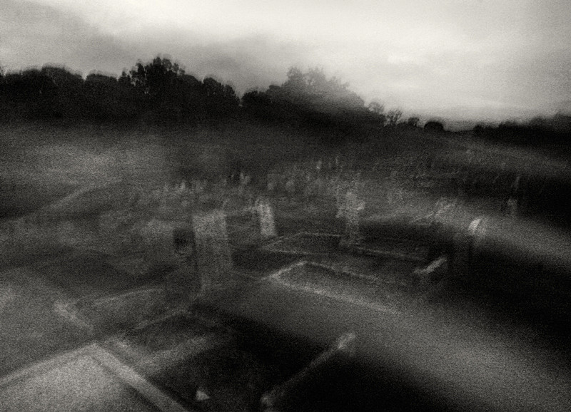 Fine Art Black and White Photograph of Grave Yard