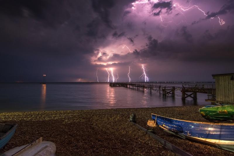 z2756 Midnight Storm from Totland Bay - The Lightning Gallery