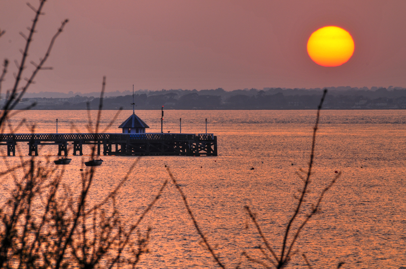 z1949 Yarmouth Pier at Sunset - Yarmouth to West Cowes