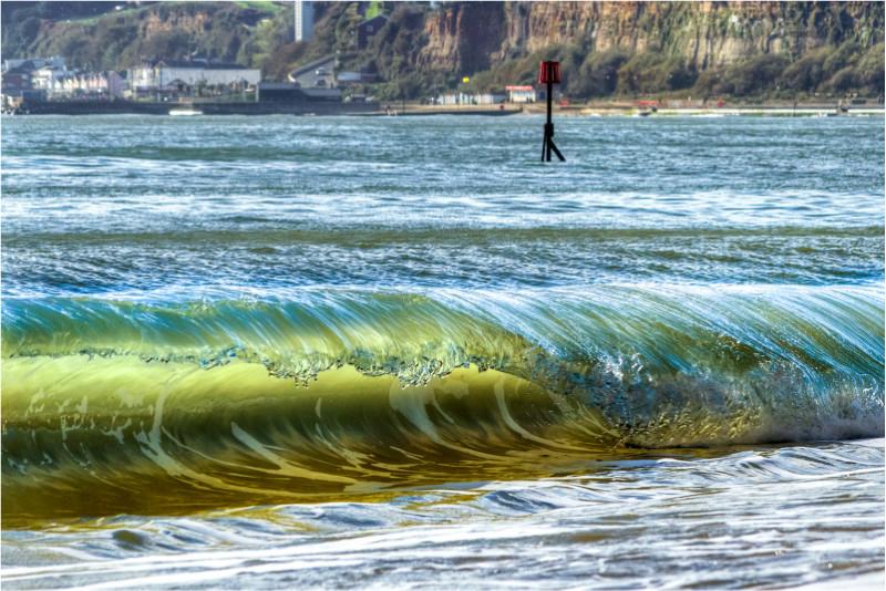 w046 Beaking Wave, Sandown Beach - The Wave Gallery