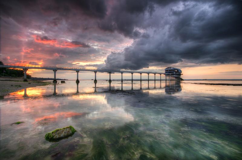 z2527 Stormy Sunset, Bembridge Lifeboat Station - Seaview to Bembridge, Whitecliff Bay and Brading