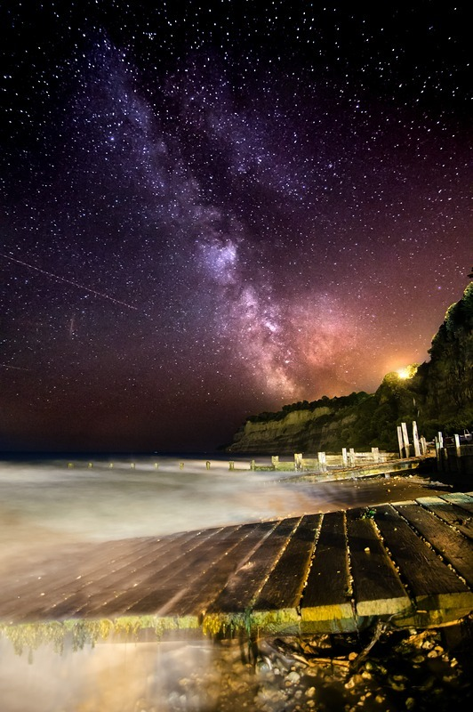z2233 Milkyway over Shanklin Beach - Sandown, Shanklin, Luccombe and Wroxall