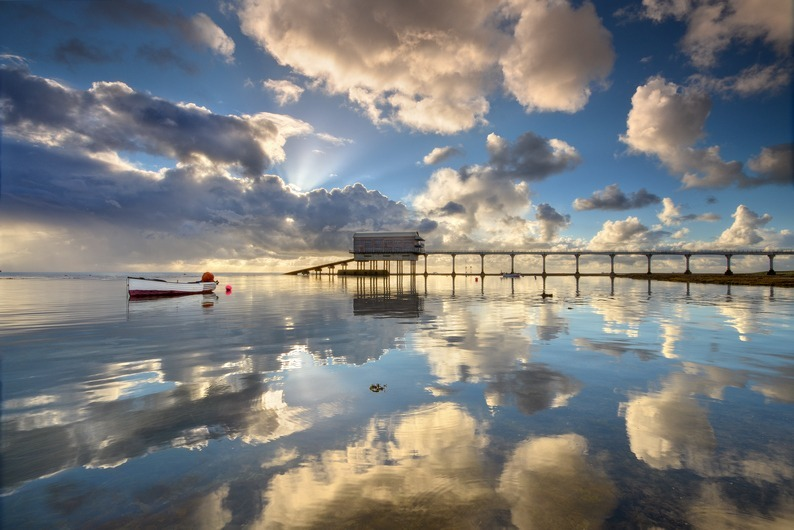 z2268 Morning Reflections, Bembridge Lifeboat Station - Seaview to Bembridge, Whitecliff Bay and Brading