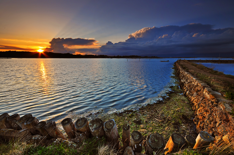 z1314 Sunset, Newtown creek - Yarmouth to West Cowes