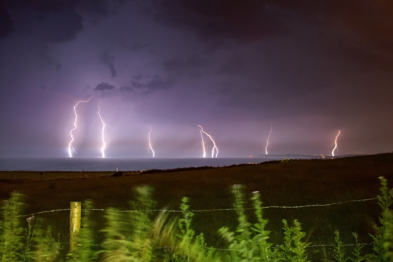z2560 Storm over West Wight - The Lightning Gallery