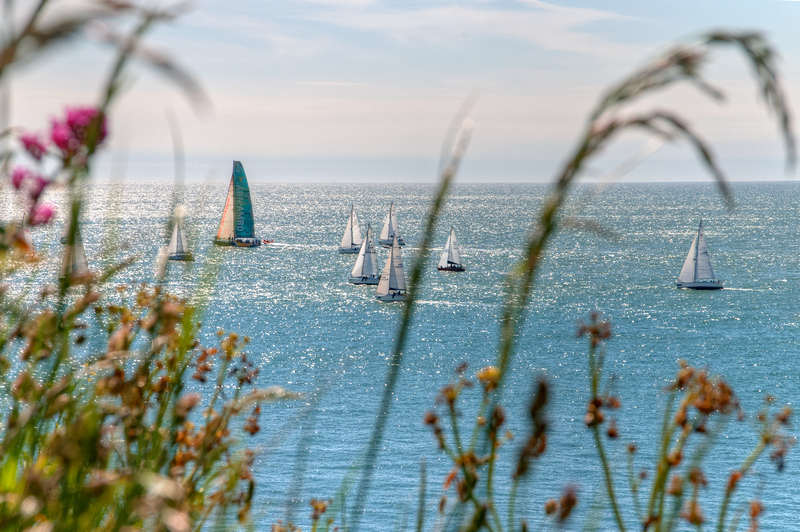 z2201 Yacht Race from the IoW South Coast - Ventnor to St Catherine's inc Bonchurch & Whitwell