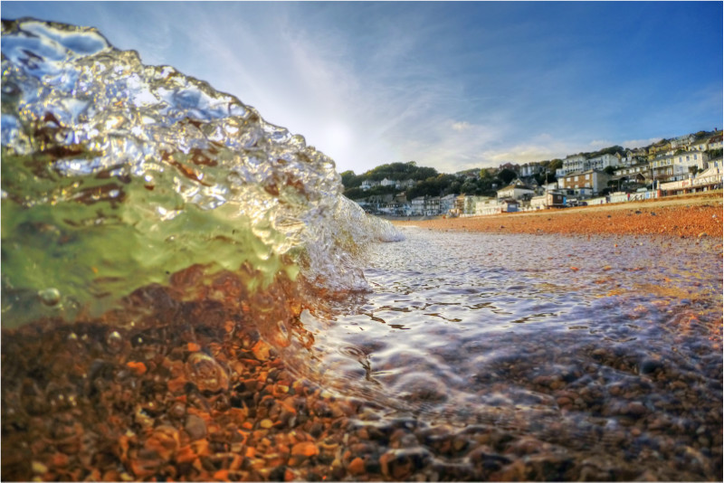 w014 Glass Wavelet, Ventnor Beach - The Wave Gallery