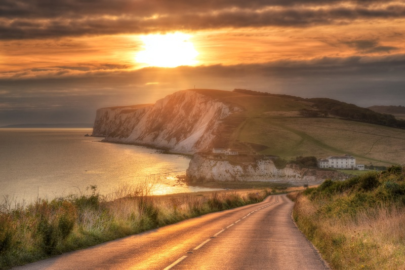 z2537 Tennyson Sunset - Freshwater Bay to Colwell Bay