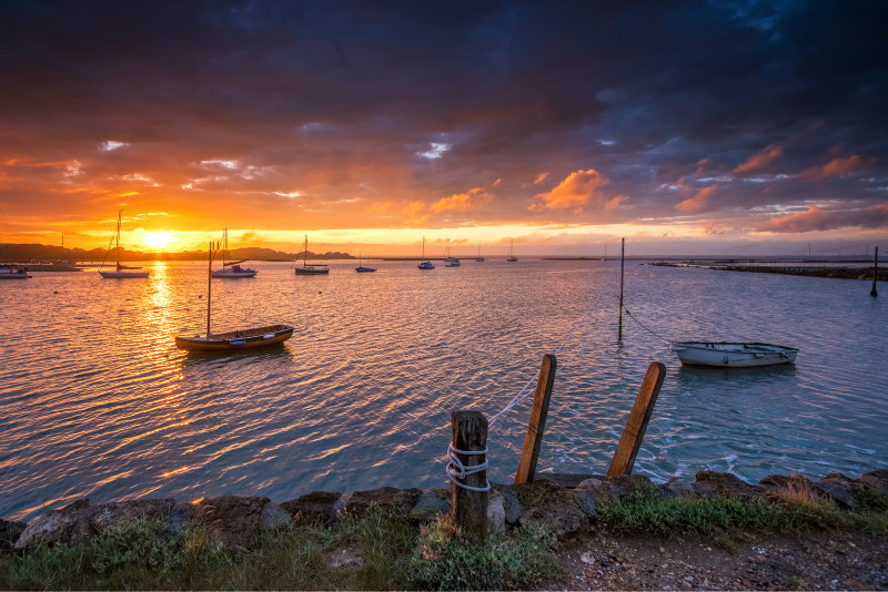 z2930 Newtown Creek at Sunset - Yarmouth to West Cowes