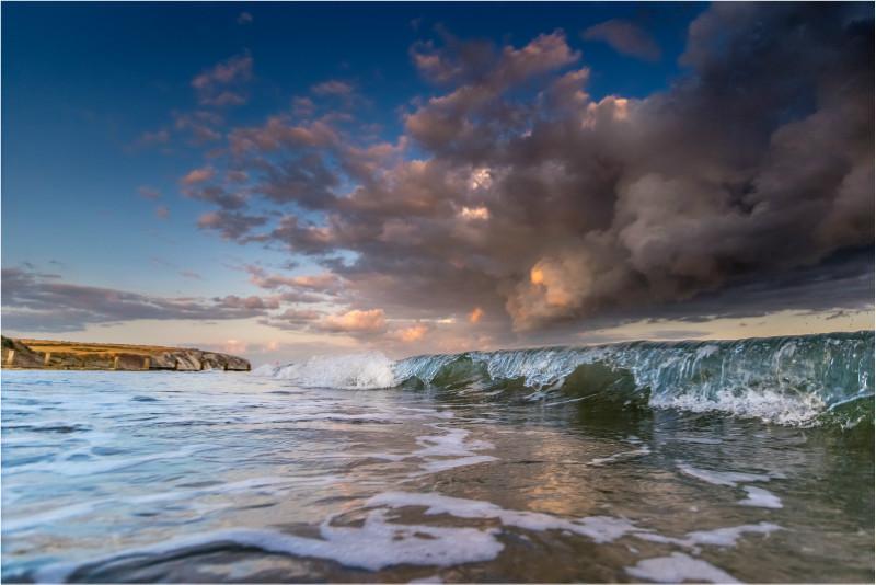 w022 Crystal Wavelets, Sandown Bay - The Wave Gallery