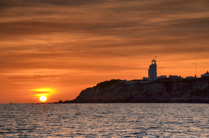 z2118 St Catherines Lighthouse at Sunset - Ventnor to St Catherine's inc Bonchurch & Whitwell