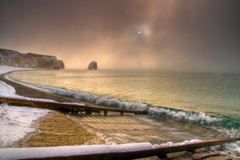 z1957 A Winter Morning, Freshwater Bay - Freshwater Bay to Colwell Bay