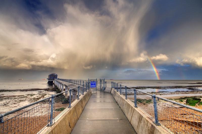 z2543 Passing Showers, Bembridge Lifeboat Station - Seaview to Bembridge, Whitecliff Bay and Brading