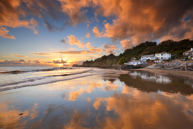 z2149 Steephill Cove at Sunset - Ventnor to St Catherine's inc Bonchurch & Whitwell