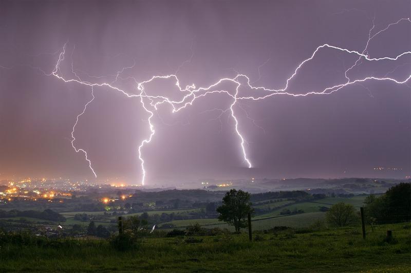 z2401 Lightning Strikes over Sandown Bay - The Lightning Gallery