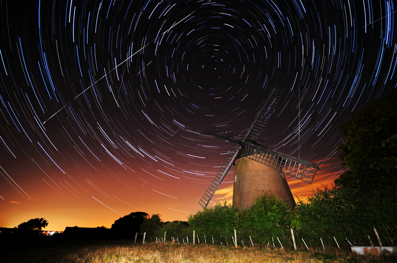 z1894 Perseid Meteor, Shower Bembridge Windmill - Seaview to Bembridge, Whitecliff Bay and Brading