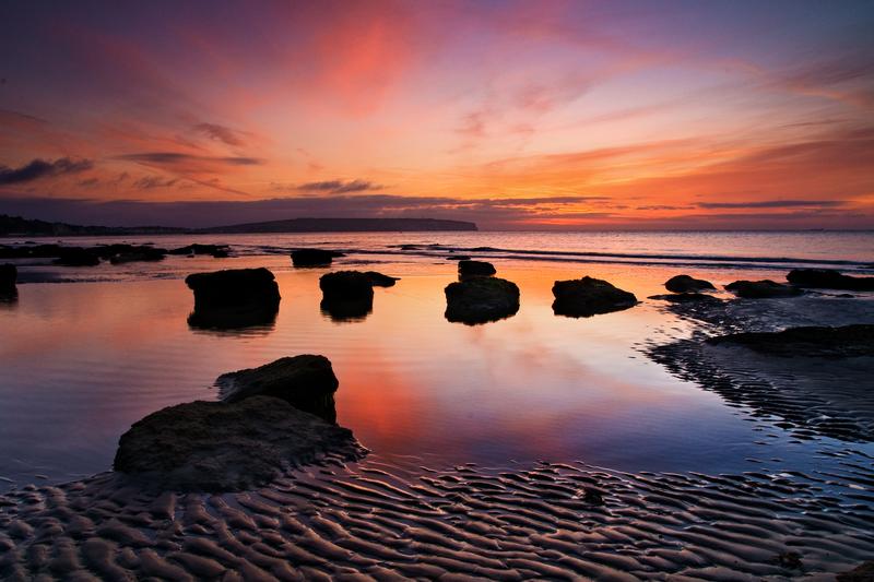 z1825 Low Tide Dawn, Lake Beach - Sandown, Shanklin, Luccombe and Wroxall
