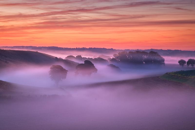 z1698 Dawn Mist, Arreton - The Inner Island inc Newport & Godshill