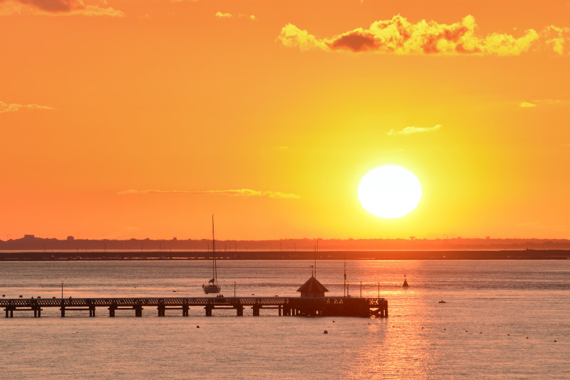 z2898 Yarmouth Pier Sunset - Yarmouth to West Cowes