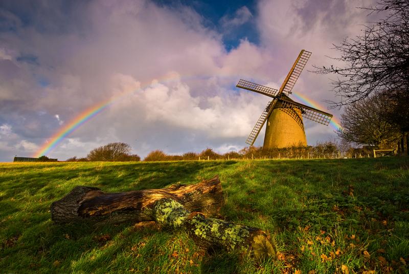 z1717 Showery Day, Bembridge Windmill - Seaview to Bembridge, Whitecliff Bay and Brading
