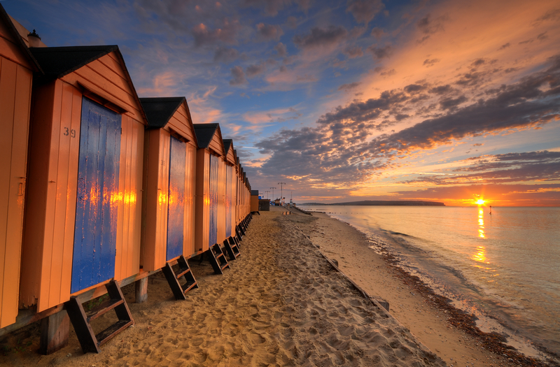 z1888 Beach Huts, Shanklin Chine - Sandown, Shanklin, Luccombe and Wroxall