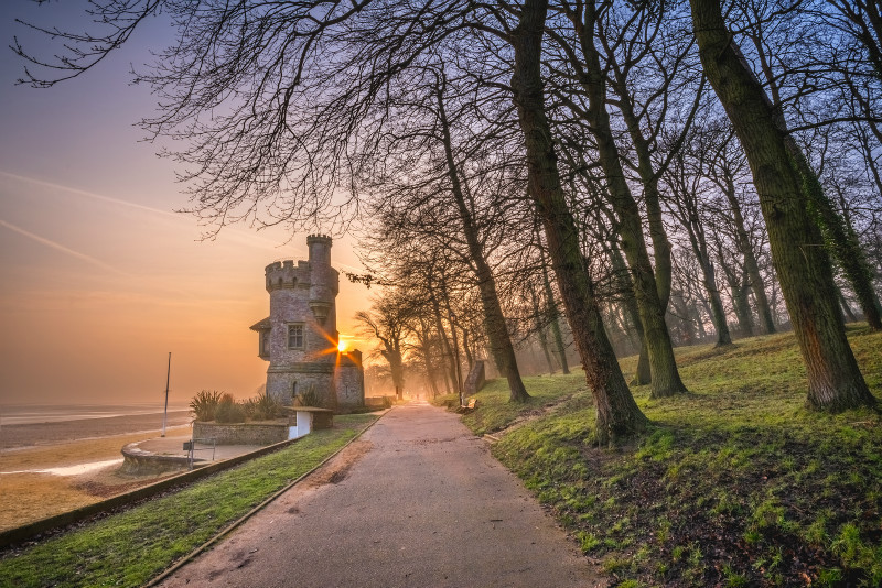 z2881 Misty Morning, Appley Tower - East Cowes to Ryde inc Haventstreet, Ashey