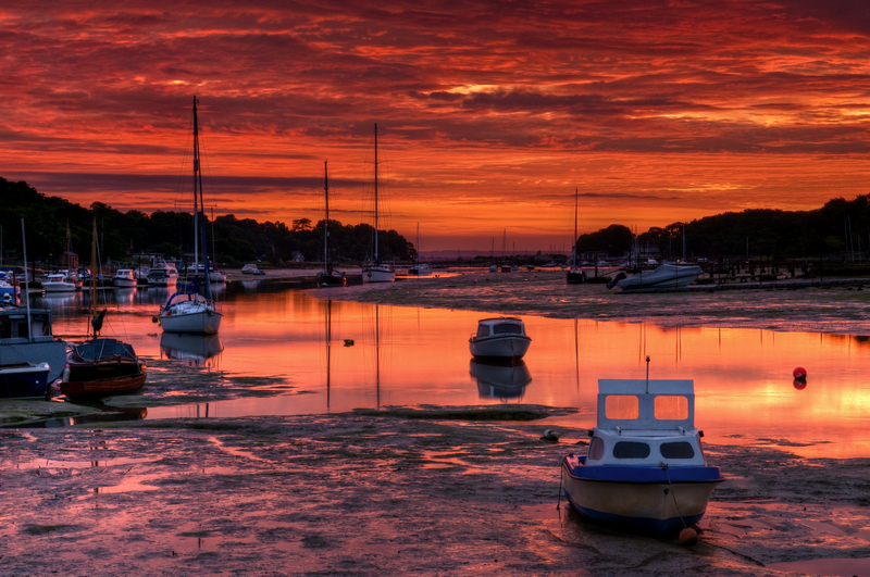 z2018 Wootton Creek at Sunrise - East Cowes to Ryde inc Haventstreet, Ashey
