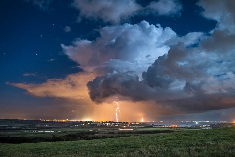 z2970 Distant Storm from Culver Down - The Lightning Gallery