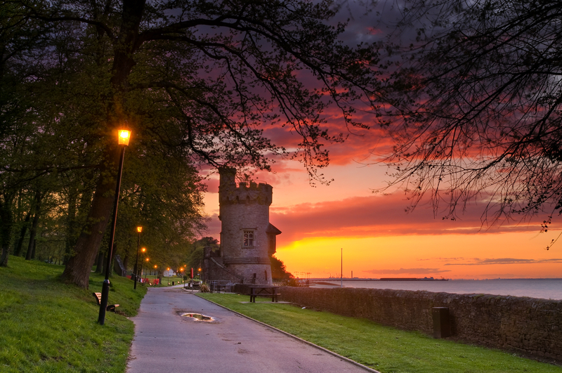z2086 Appley Tower at Sunset - East Cowes to Ryde inc Haventstreet, Ashey