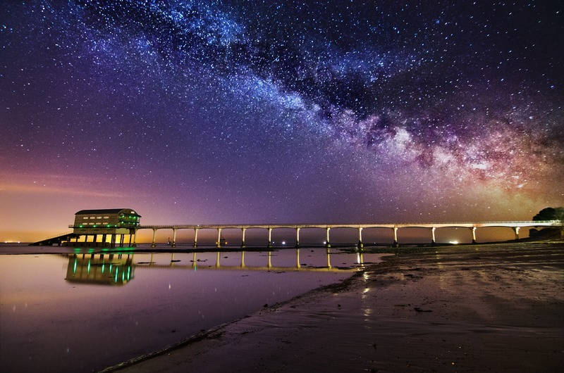 z2345 Dawn glow meets the Milky Way, Bembridge - Seaview to Bembridge, Whitecliff Bay and Brading