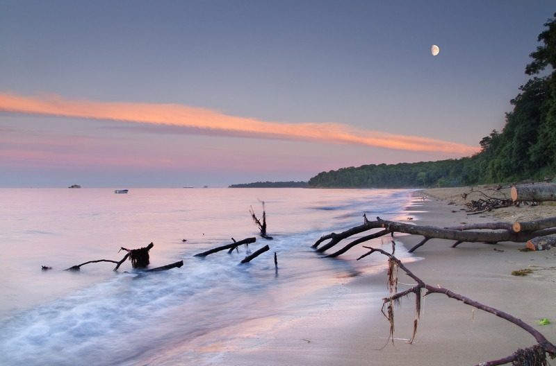 z2251 Priory Bay at Dusk - Seaview to Bembridge, Whitecliff Bay and Brading