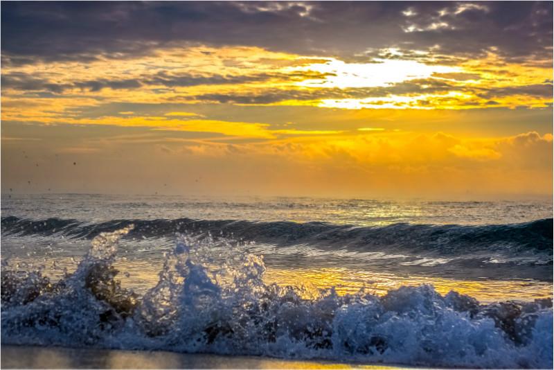 w035 Sandown Sunrise Surf - The Wave Gallery