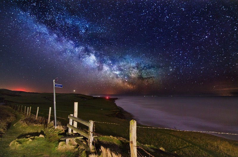 z2342 The Milky Way over Compton Bay - Blackgang to Compton inc West Wight