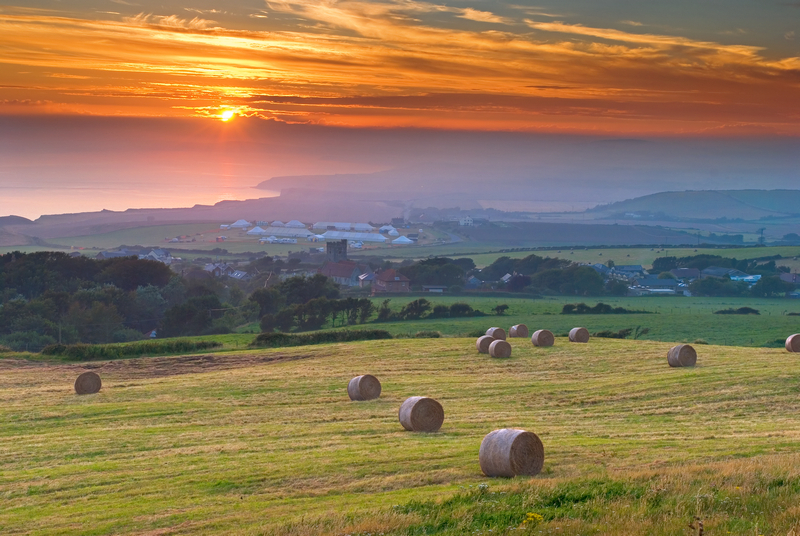 z1075 Summer Bales overlooking Chale - Blackgang to Compton inc West Wight
